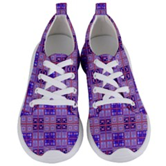 Mod Purple Pink Orange Squares Pattern Women s Lightweight Sports Shoes