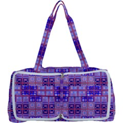 Mod Purple Pink Orange Squares Pattern Multi Function Bag