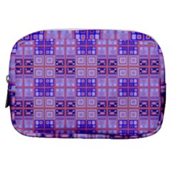 Mod Purple Pink Orange Squares Pattern Make Up Pouch (small)