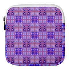Mod Purple Pink Orange Squares Pattern Mini Square Pouch