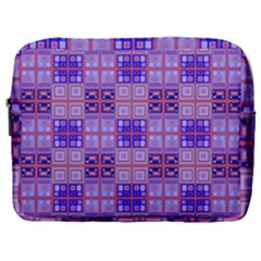 Mod Purple Pink Orange Squares Pattern Make Up Pouch (large)