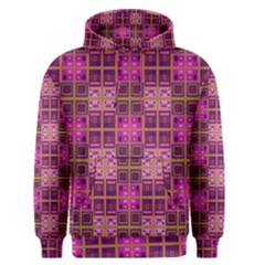 Mod Pink Purple Yellow Square Pattern Men s Pullover Hoodie