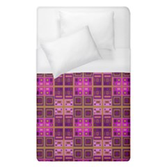 Mod Pink Purple Yellow Square Pattern Duvet Cover (single Size) by BrightVibesDesign