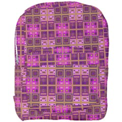 Mod Pink Purple Yellow Square Pattern Full Print Backpack