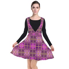 Mod Pink Purple Yellow Square Pattern Other Dresses