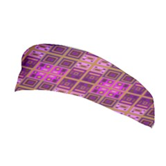 Mod Pink Purple Yellow Square Pattern Stretchable Headband