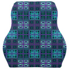 Mod Purple Green Turquoise Square Pattern Car Seat Velour Cushion