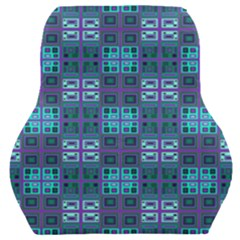 Mod Purple Green Turquoise Square Pattern Car Seat Back Cushion