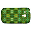 Mod Yellow Green Squares Pattern Samsung Galaxy S3 MINI I8190 Hardshell Case View1