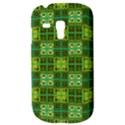 Mod Yellow Green Squares Pattern Samsung Galaxy S3 MINI I8190 Hardshell Case View3