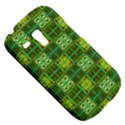 Mod Yellow Green Squares Pattern Samsung Galaxy S3 MINI I8190 Hardshell Case View5