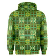 Mod Yellow Green Squares Pattern Men s Pullover Hoodie