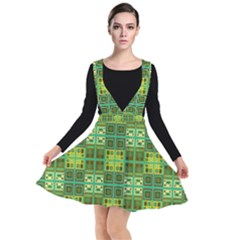 Mod Yellow Green Squares Pattern Other Dresses