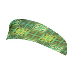 Mod Yellow Green Squares Pattern Stretchable Headband