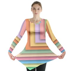 Colorful Wallpaper Abstract Long Sleeve Tunic