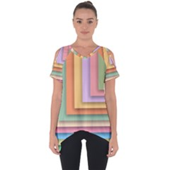 Colorful Wallpaper Abstract Cut Out Side Drop Tee
