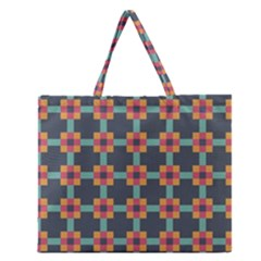 Abstract Background Zipper Large Tote Bag by Simbadda
