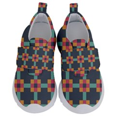 Abstract Background Velcro Strap Shoes