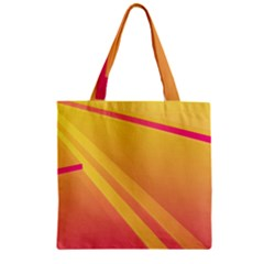 Abstract Art Background Beautiful Zipper Grocery Tote Bag by Simbadda