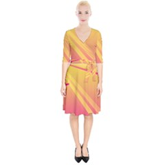 Abstract Art Background Beautiful Wrap Up Cocktail Dress