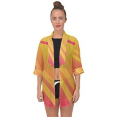 Abstract Art Background Beautiful Open Front Chiffon Kimono by Simbadda