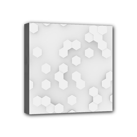 White Abstract Wall Paper Design Frame Mini Canvas 4  X 4  (stretched)