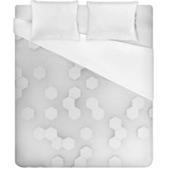 White Abstract Wall Paper Design Frame Duvet Cover (california King Size)