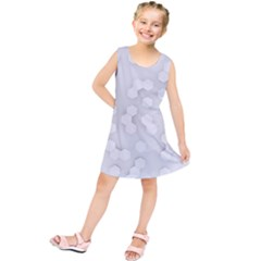 White Abstract Wall Paper Design Frame Kids  Tunic Dress