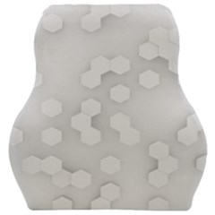White Abstract Wall Paper Design Frame Car Seat Velour Cushion  by Simbadda