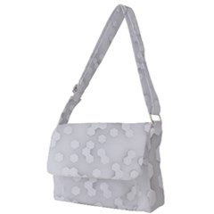 White Abstract Wall Paper Design Frame Full Print Messenger Bag