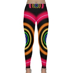 Neon Light Abstract Pattern Lines Classic Yoga Leggings
