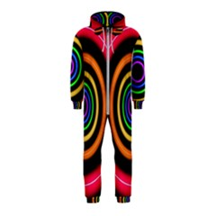 Neon Light Abstract Pattern Lines Hooded Jumpsuit (kids)