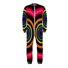 Neon Light Abstract Pattern Lines Onepiece Jumpsuit (kids)