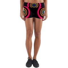 Neon Light Abstract Pattern Lines Yoga Shorts