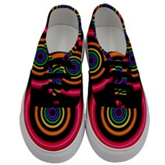 Neon Light Abstract Pattern Lines Men s Classic Low Top Sneakers