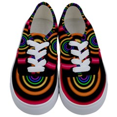 Neon Light Abstract Pattern Lines Kids  Classic Low Top Sneakers