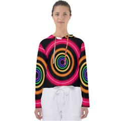 Neon Light Abstract Pattern Lines Women s Slouchy Sweat