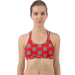 Black And White Red Patterns Back Web Sports Bra