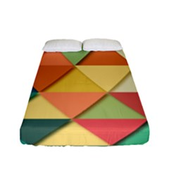Background Geometric Triangle Fitted Sheet (full/ Double Size) by Simbadda