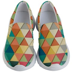 Background Geometric Triangle Kid s Lightweight Slip Ons by Simbadda