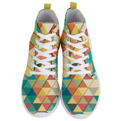 Background Geometric Triangle Men s Lightweight High Top Sneakers by Simbadda