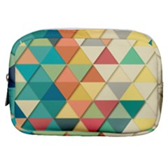 Background Geometric Triangle Make Up Pouch (small) by Simbadda