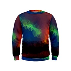 Abstract Texture Background Kids  Sweatshirt