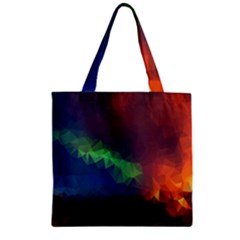 Abstract Texture Background Zipper Grocery Tote Bag