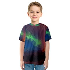 Abstract Texture Background Kids  Sport Mesh Tee