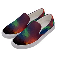 Abstract Texture Background Men s Canvas Slip Ons by Simbadda