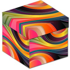 Abstract Colorful Background Wavy Storage Stool 12