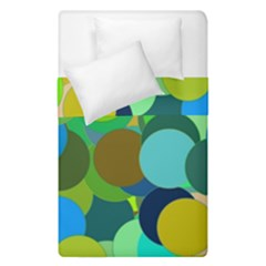 Green Aqua Teal Abstract Circles Duvet Cover Double Side (single Size)