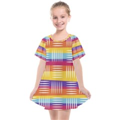 Background Abstract Kids  Smock Dress