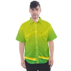 Background Color Fresh Beautiful Men s Short Sleeve Shirt by Simbadda